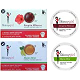 Skinnygirl Naturally Flavored Herbal and Green Tea 2 Flavor Variety Bundle: (1) Sangria Hibiscus Herbal, and (1) Mojito Mint Green Tea, 12 Cups Each