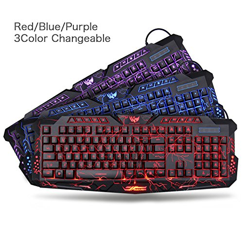 61Md8GRxSSL - Bluefinger Gaming Keyboard, Mouse and Headphone Set