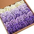 N&T NIETING Artificial Flowers 8Pcs Silk Plastic Artificial Hydrangea for DIY Bridesmaid Bridal Wedding Bouquet, Home Garden Office Party Wedding Decoration