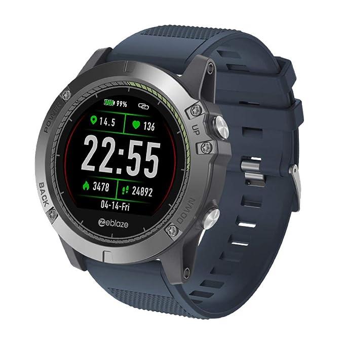 starter Reloj Inteligente Zeblaze Vibe 3 HR - Monitor De Recursos Humanos Robusto Inside out 3D UI Registro De Actividad Todo El Día 1.22 IPS Smart ...