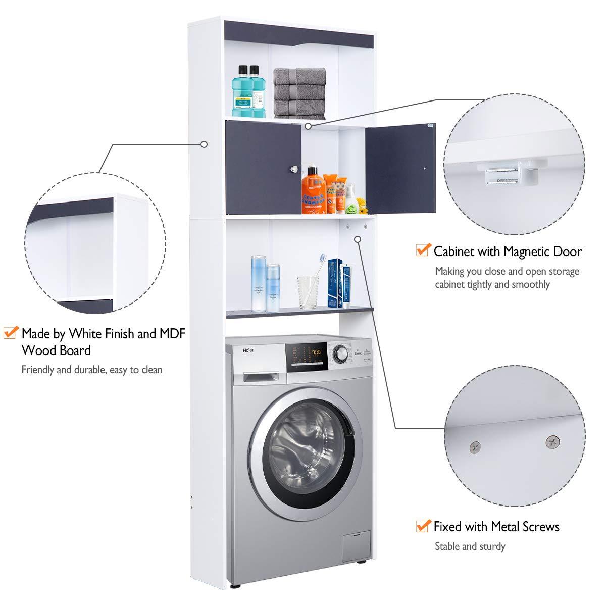 Happy Home Waschmaschinenschrank Badregal Hochschrank Badschrank