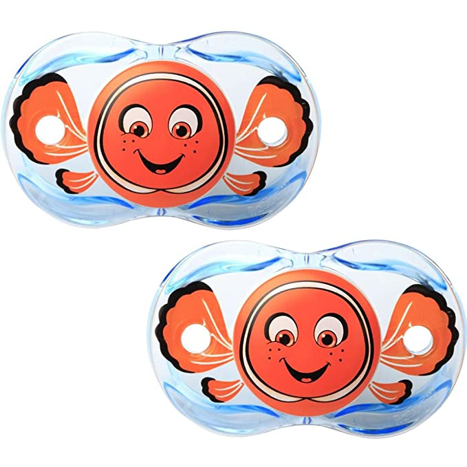 Razbaby Keep-It-Kleen Pacifier - Finley Clown Fish - 2 Count , 0 ...
