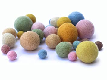 8 Natur 25 Filzkugeln In 3 Grossen Aus 100 Wolle Fur Mobile In