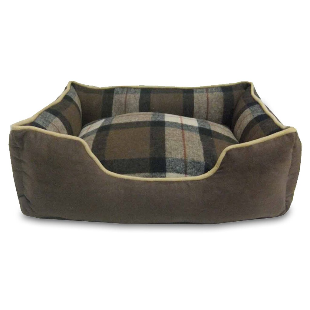 Brown 705023CM Brown 705023CM KTYX Removable and Washable Autumn and Winter Warm Kennel VIP Teddy Schnauzer Barco Cork Satsu Small and Medium Dog Cat Litter Pet Bed (color   Brown, Size   70  50  23CM)