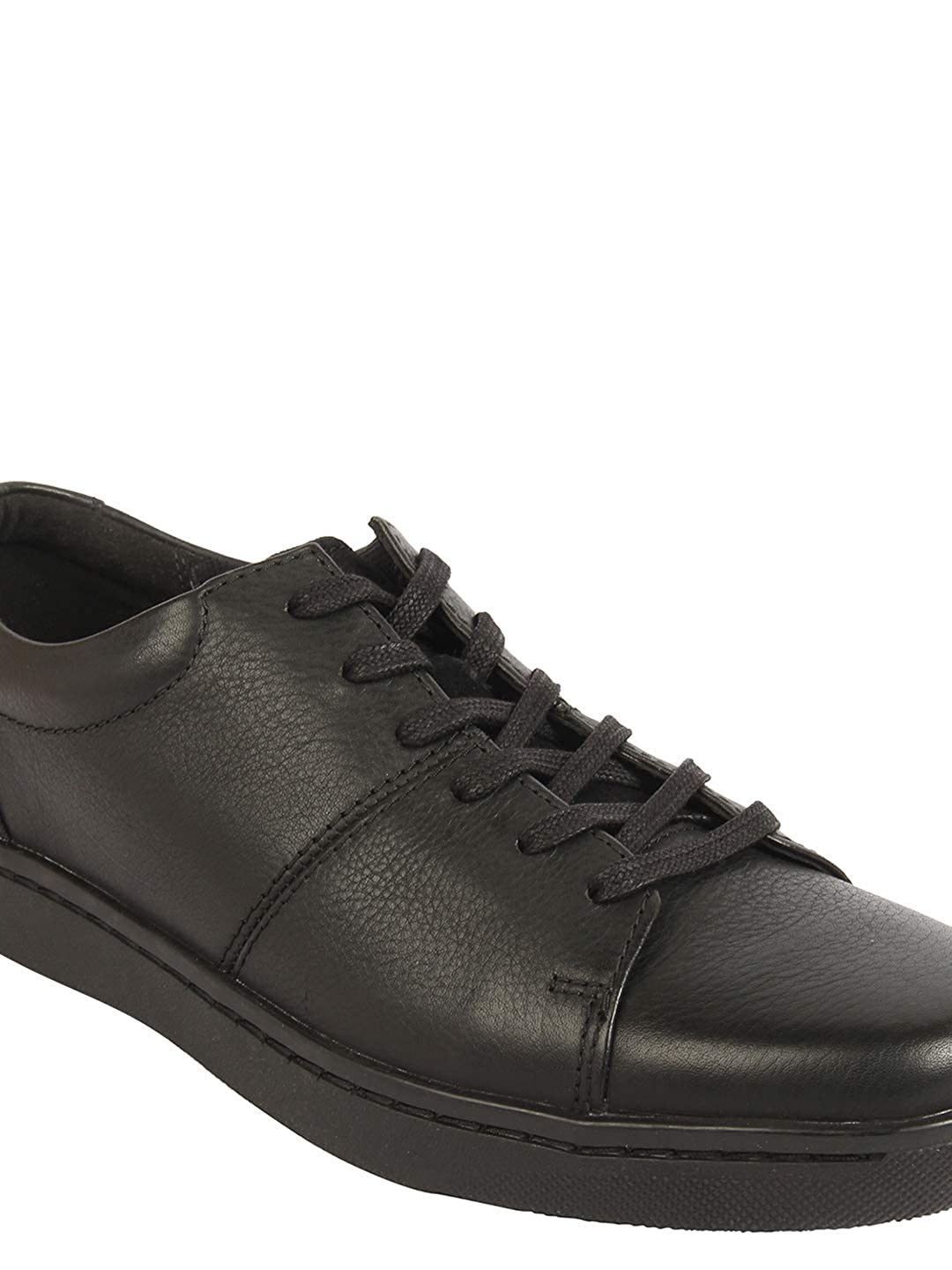 Buy Clarks Solid Black Coloured Leather