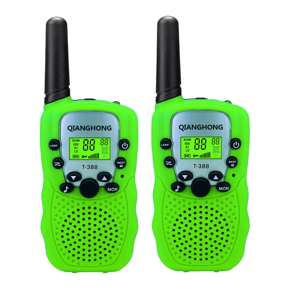 Qianghong T3 Kids Walkie Talkies 3-12 Year Old Children's Outdoor Toys Mini Two Way Radios UHF 462-467 MHz Frequency 22 Channels - 1 Pair Green by Qianghong (Image #6)
