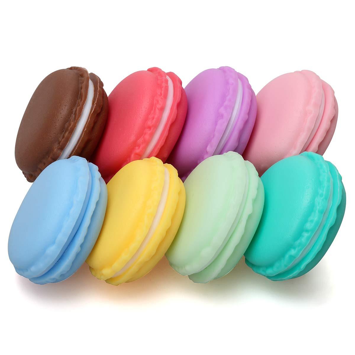 Coolrunner Macaron Case, Mini Macaron Box, Macaron Jewelry Box, Macaron Cute Pill Box, Colorful Macaron Jewelry Storage Box, Shape Storage Box Candy Cute Pill Organizer Case Container(8PCS)