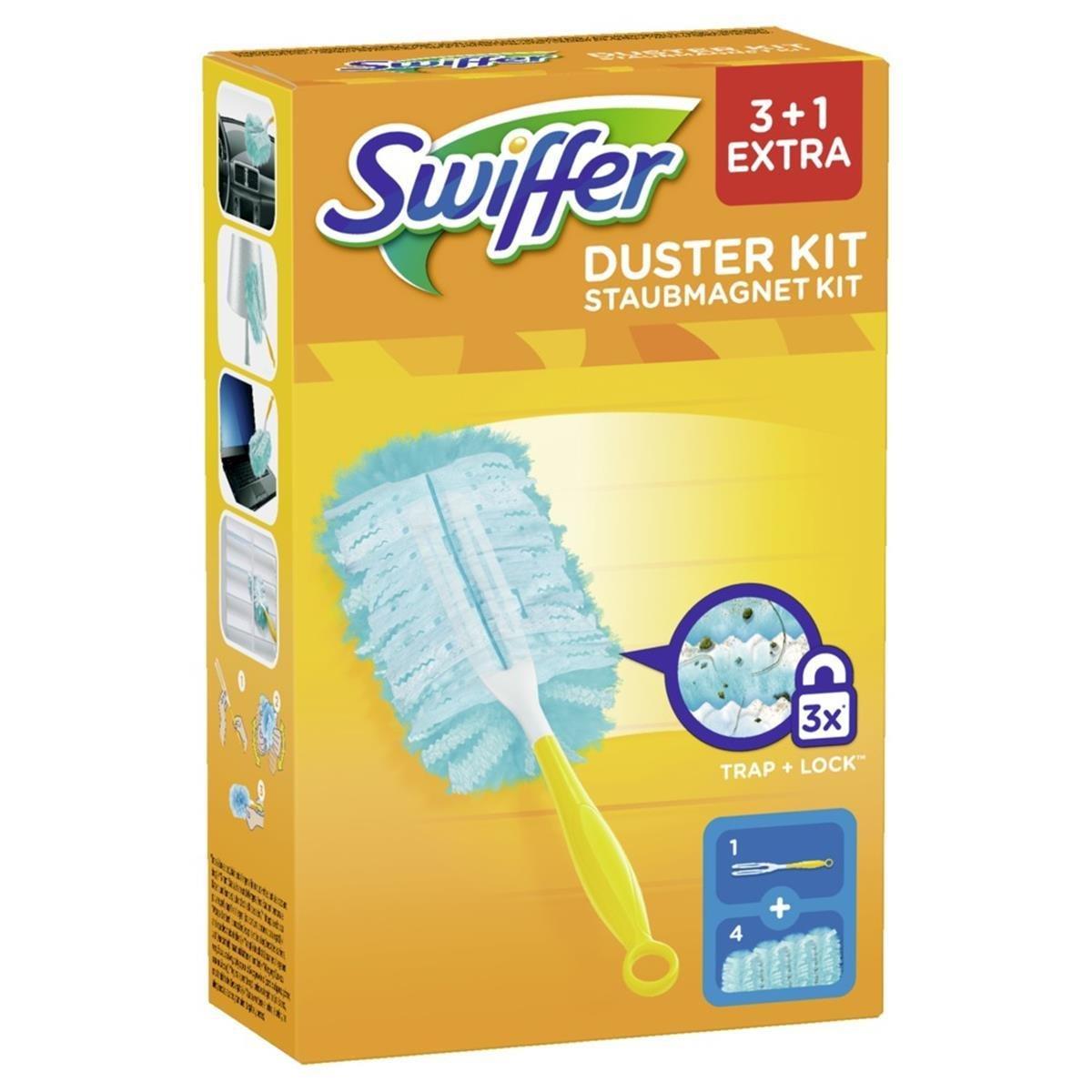10x Swiffer Staubmagnet Set 1er Pack 1Griff und 3 Staubmagnet Tücher