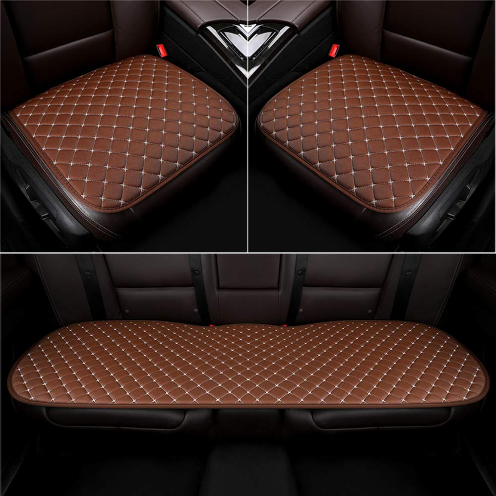 U& M 2pcs Car Interior Seat Cover, Breathable Summer Cool Auto Front Seat Cushion Protector Universal for Most Car, Truck, Suv, Van, Airplane, Office, or Home