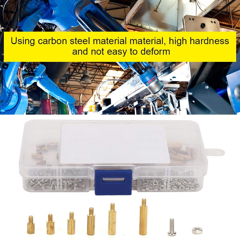 M2 Screws Carbon Steel Standoff Set 1-Way Fasteners Electronic Industry Assortment
