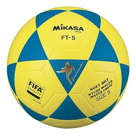 MIKASA Balón de fútbol Unisex, Color Azul y Amarillo, Talla 5 ...