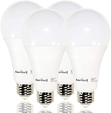 Ameriluck 50 100 150w Equivalent 3 Way Led Light Bulb A21 5000k Daylight Omni Directional Ul Listed 4 Pack