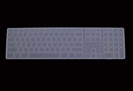 Amazon.com: Saco Full Size CLEAR Keyboard Cover Silicone ...