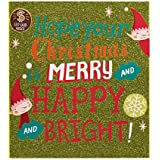American Greetings Merry and Happy and Bright Gift Card Holder Christmas Card with Music