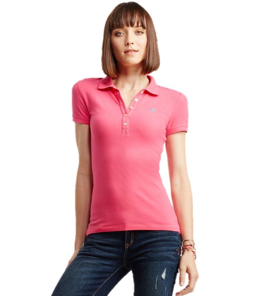 Aeropostale Women's Polo Shirt Large Gossip Pink 662