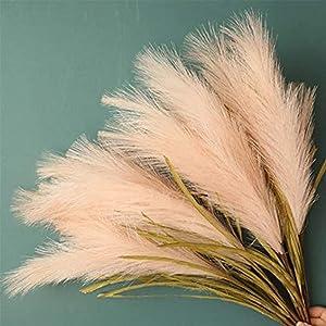 LACKINGONE 4Pcs Faux Pampas Grass Decor Tall Pampass Grass 30