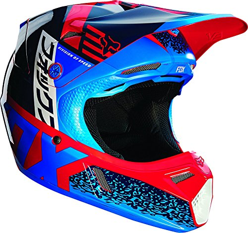 Fox Racing Divizion Youth V3 Motocross Motorcycle Helmet - -