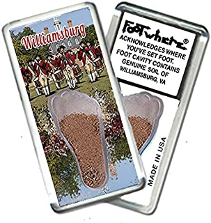 "product image for Williamsburg""FootWhere"" Fridge Magnet. Made in USA (WB204 - Da Band)"