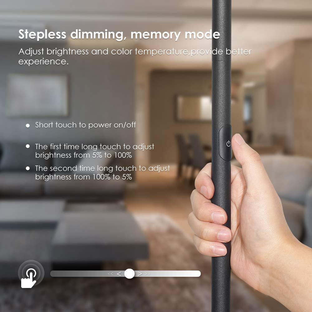 Floor Lamp TECKIN Reading Standing Lamp Dimmable for Living Room Bedroom High Lumens,Touch Control Floor Light LED Floor Light