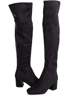f9cf21f94db Amazon.com  Vince Camuto Womens Crisintha Leather Closed Toe Knee ...
