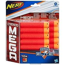 Nerf - A4368E240 - Jeu de Fléchettes - Mega Elite Recharges Centurion x 10