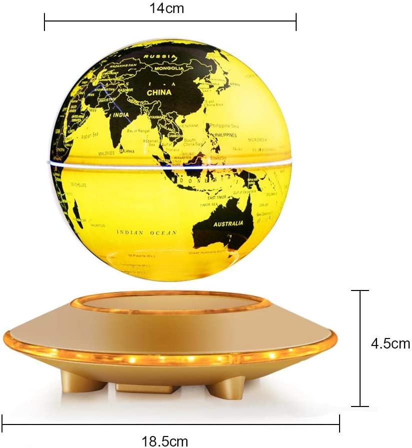 Semme 6 terráqueo magnético Flotante, led Iluminado Mapa del Mundo ...
