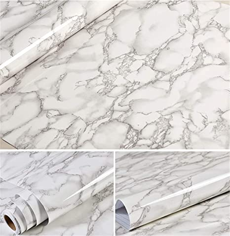 Wall Stickers Marble Self Adhesive Wallpaper For Bathroom