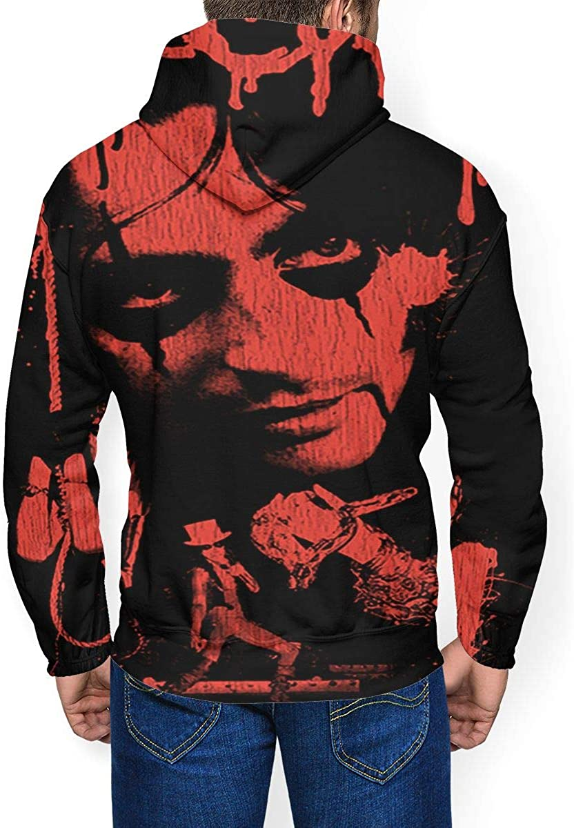 Alice Cooper Mens Winter Jacket Clothes Plus Velvet Long Sleeve Hooded Sweat Shirt Pullover