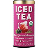 The Republic Of Tea Organic Black Currant Rosemary Iced Tea Pouches, 8 Quarts / 8 Large Iced Tea Pouches