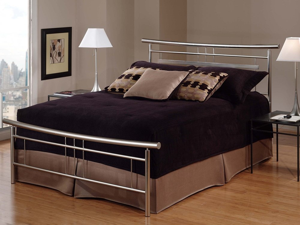 Amazon.com: Hillsdale Furniture 1331BKR Soho Bed Set With Rails, King,  Brushed Nickel: Kitchen U0026 Dining