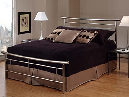 Hillsdale Furniture 1331BFR Soho Bed Set With Rails, Full, Brushed Nickel