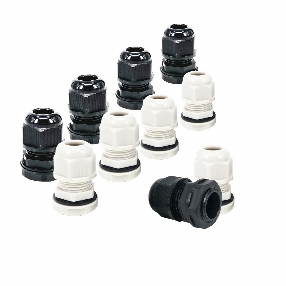 10 piece bag black gray M16 8 cable connector plastic waterproof 4mm 8mm cable connector connector wire protector cable connector plastic waterproof adjustable cable connector