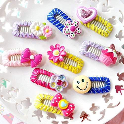 PET SHOW Handmade Assorted Cute Pet Small Dogs Hair Bows Clips for Short Hairs Animals Cats Puppy Grooming Hair Clips Accessories Random Color Pack of 10