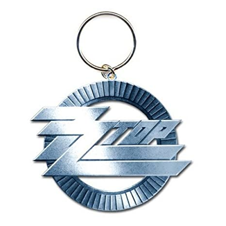 ZZ Top - Rock Band metal Llavero Circle Logo: Amazon.es ...