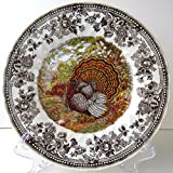 Set of 4 Queen's Majestic Beauty Turkey Thanksgiving Salad Plates Quintessent...