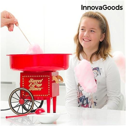 InnovaGoods IG115038 Máquina de algodón de azúcar, 500 W, Rojo ...