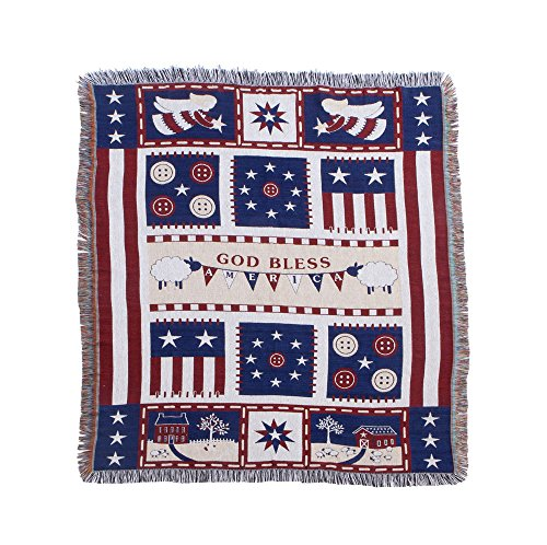 Miles Kimball Americana Blessings Tapestry Throw by OakRidgeTM