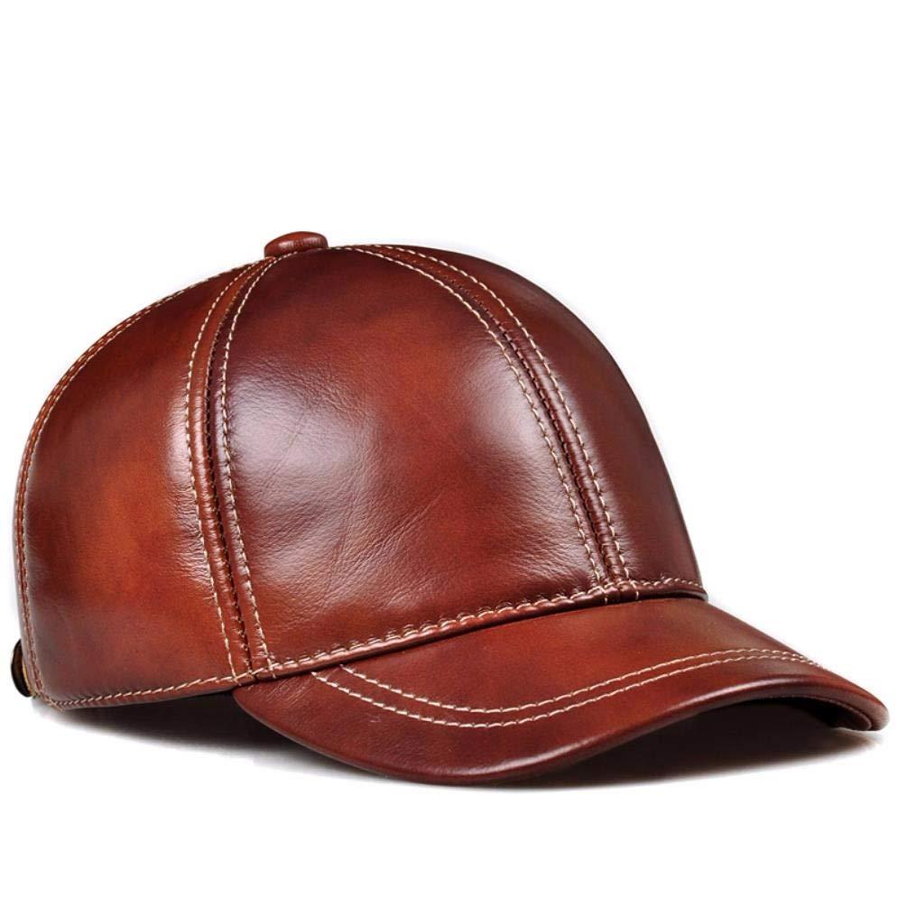 YISANLING-PM Herren-Baseballmütze aus Leder für den Herbst und und und Winter im mittleren Alter B07M8CLTY7 Cricket Internationale Wahl 8957a5