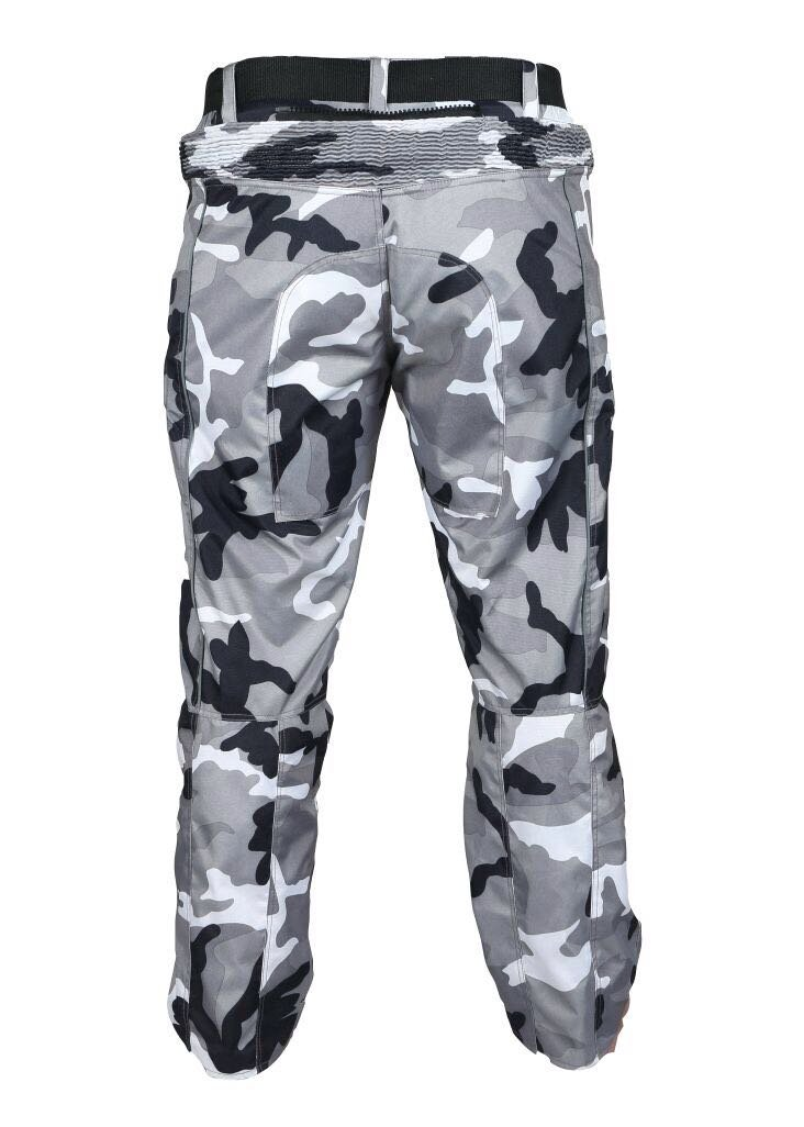 Mens Motorcycle Motorbike CE Armoured cordura Fabric Waterproof Textile Trouser Pants Camo 38, Caamo