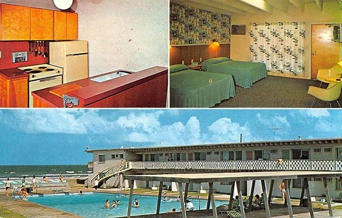 South Padre Island Texas Miramar Resort Motel Vintage Postcard
