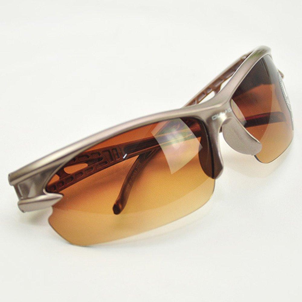 ベージュフレームブラウンレンズスポーツBiking Cycling耐久性メガネ保護の眼からUV Debris anti-shatterレンズ   B0172CUVL6