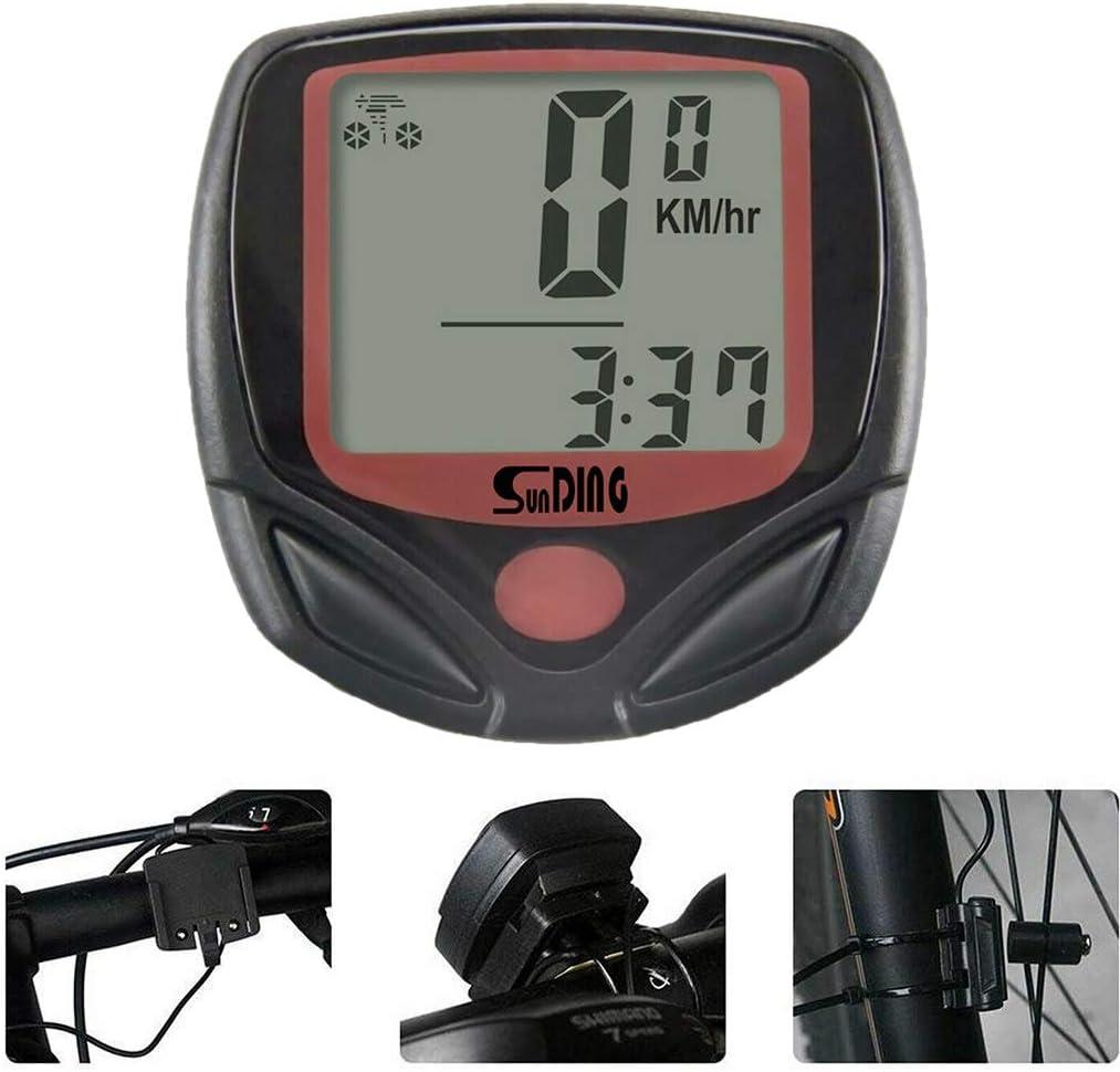 Fengyuanhong Bike Computer Digital LCD Display Cycling Computer Waterproof MTB Bike Speedometer Odometer