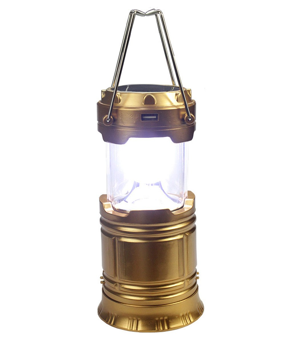 Jiangu Super Bright Solar-Outdoor Camping Lampe, Camping Lampe Portable Emergency Lamp LED Zelt Licht Laterne wiederaufladbar Beleuchtung