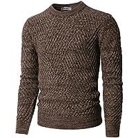 H2H para hombre Casual Slim Fit Basic Diseñado Knit Pullover Sweater de varios colores