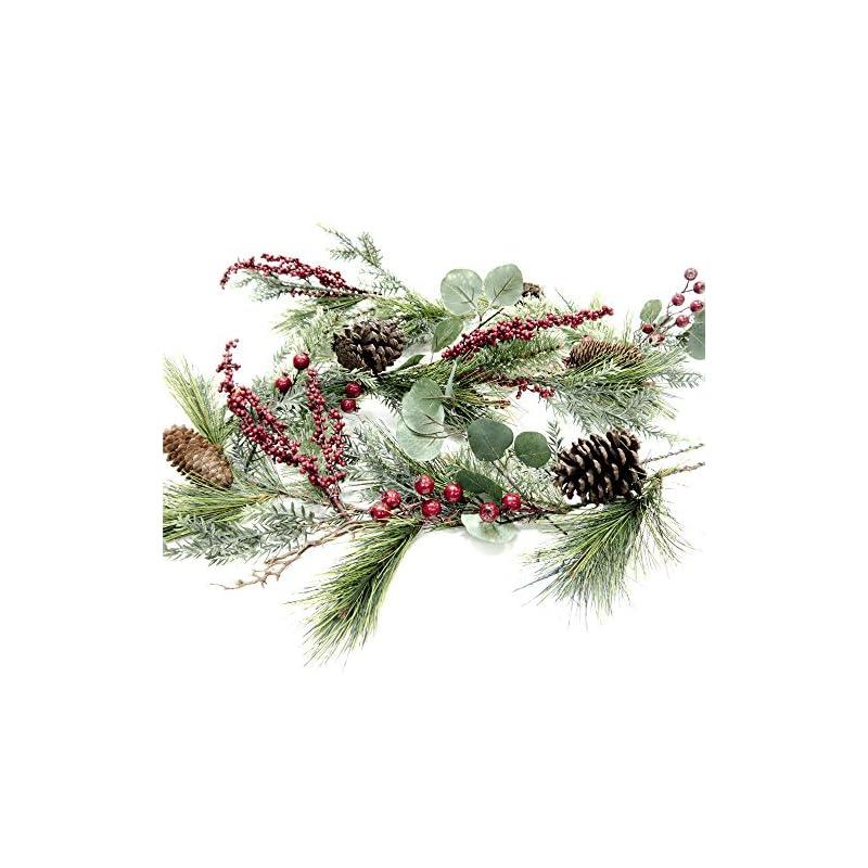 silk flower arrangements craftmore brighton pine christmas garland 72 inch