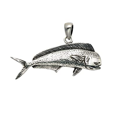 Amazon sterling silver mahi fish pendant jewelry sterling silver mahi fish pendant aloadofball Image collections