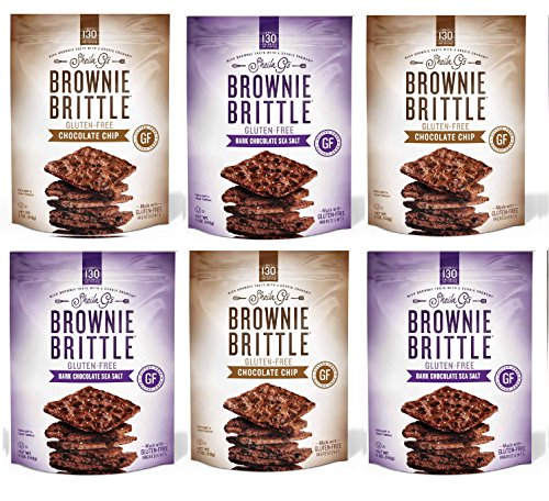 Sea Brownies Salt (Brownie Brittle Gluten-Free Brownie Brittle Variety Pack, 5 Ounce, 6 Count)
