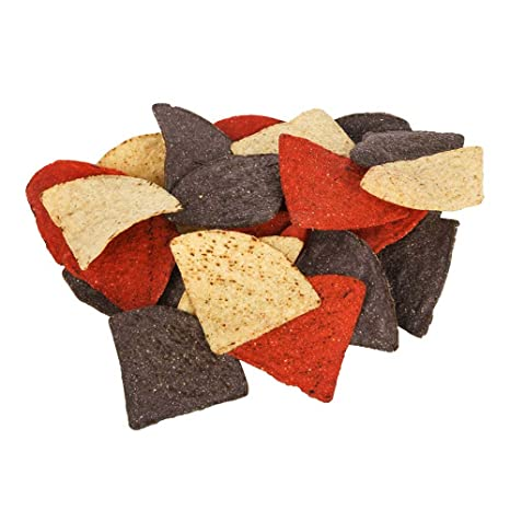amazoncom mission foods triangles tortilla chips tri color 2 pound pack of 6