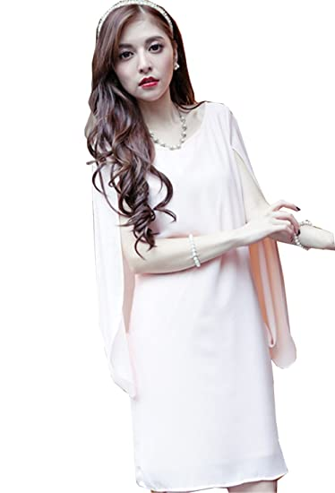 d8f1f12fa2187 SHUNYI パーティードレス 結婚式 ワンピース ドレス ひざ丈 大きいサイズ きれいめ 上品 エレガント ケープ