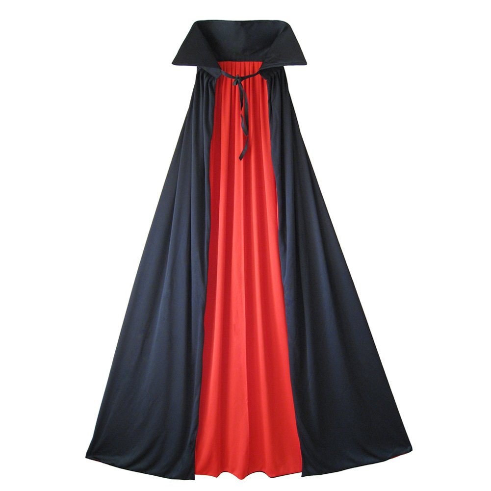 SeasonsTrading 54 Fully Lined Deluxe Vampire Cape ~ Halloween Costume Black Cape